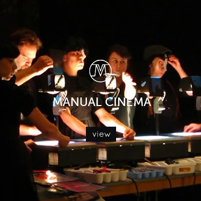 VoxMagna Agency, Manual Cinema, projection, theater, performance, live act, live performance, technological artists, tech art, old school cinema, storytelling artists, puppetry, puppets