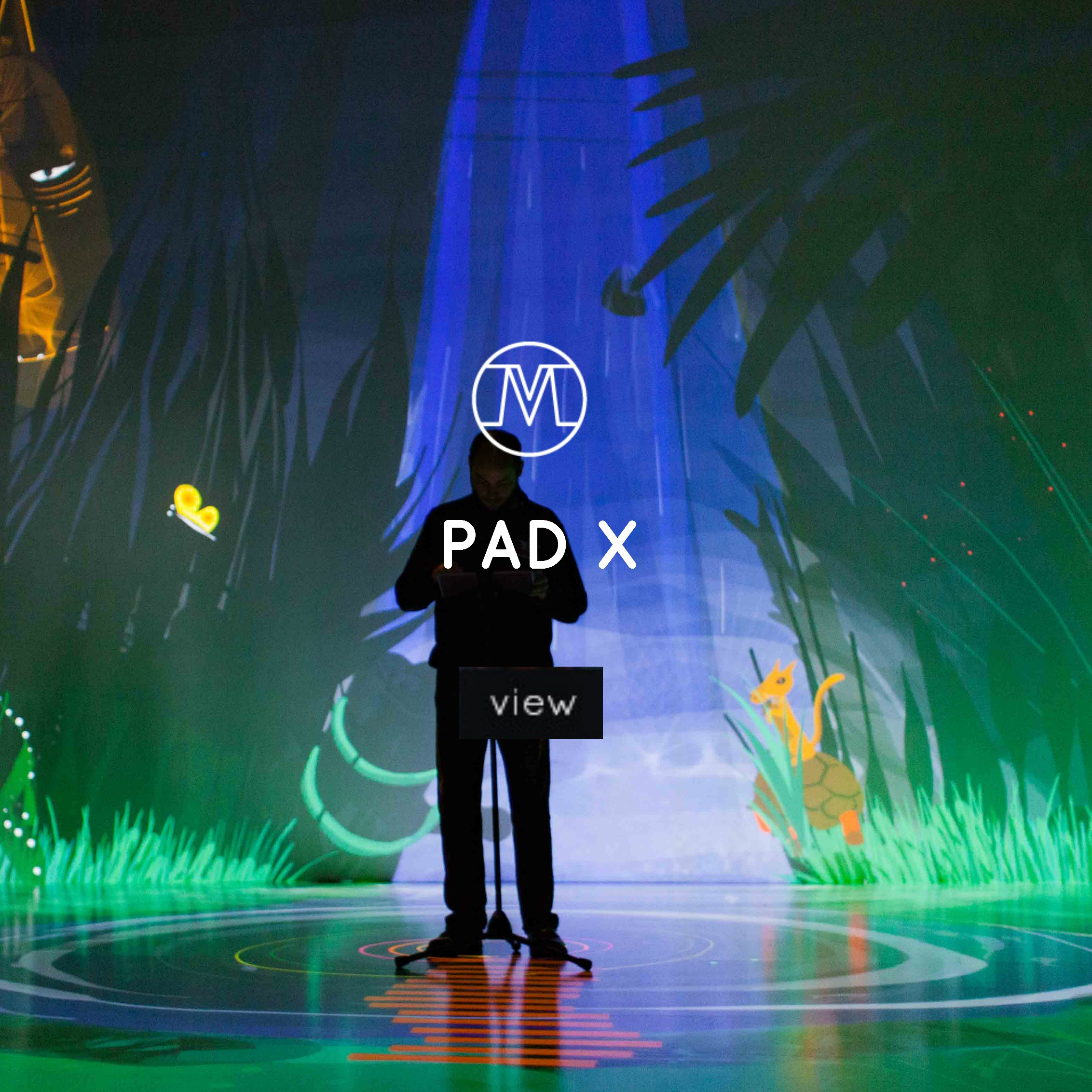 VoxMagna Agency, Mariana Rinaldi, Pad X, Ipad art, technological artists, roaming characters, roving act, graphics, immersive environments, events, new media art, installation, interactive installation, digital art